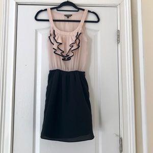 Express midi dress, pink & black, Sz XS